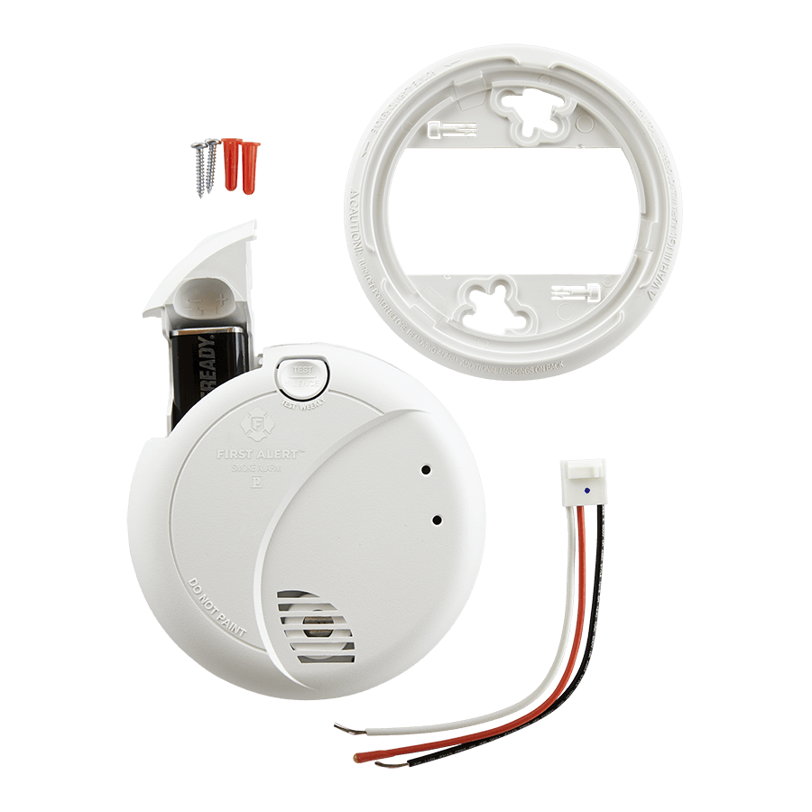 Hardwired Photoelectric Smoke Alarm W Battery Backup 7010b