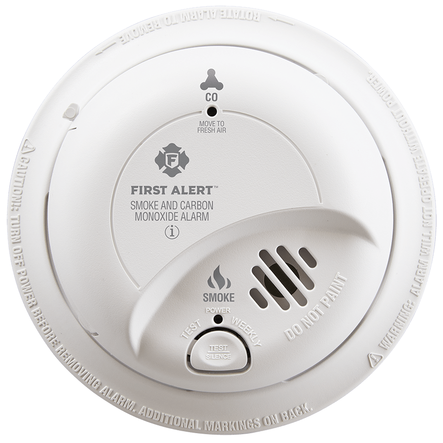 Hardwired Smoke & Carbon Monoxide Alarm with Battery Backup