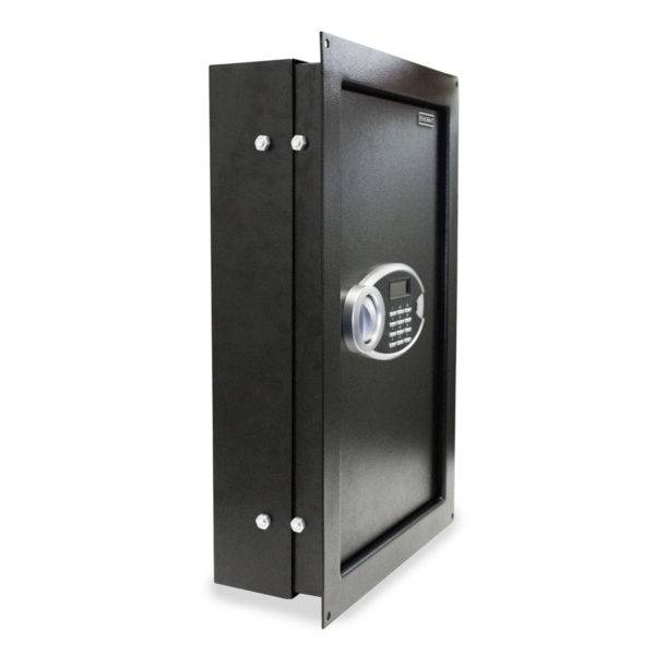 expandable anti-theft wall safe with digital lock side view